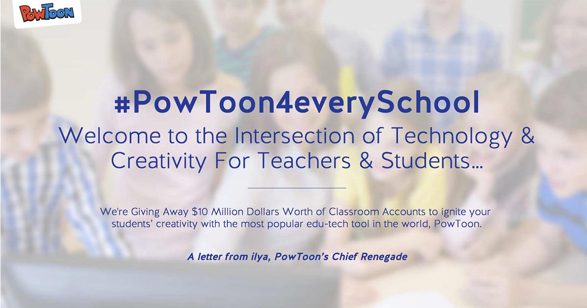how to create powtoon account